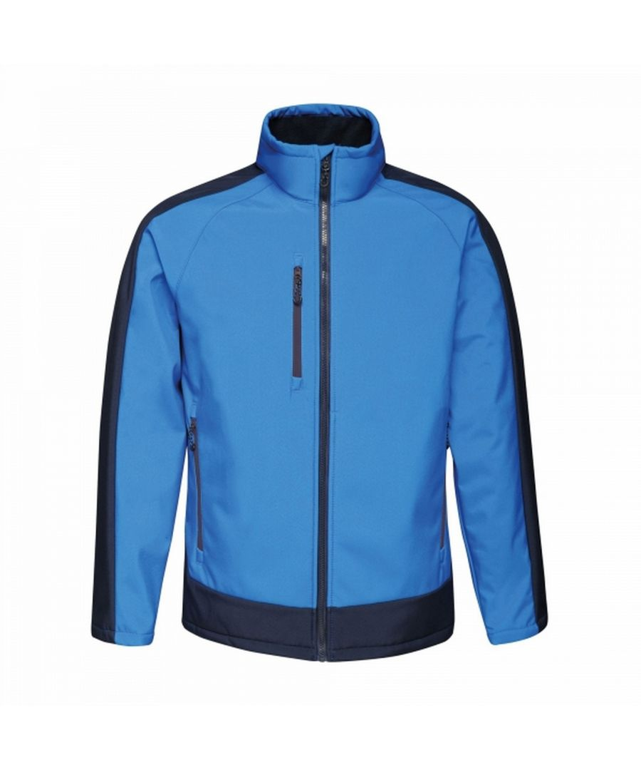 Image for Regatta Mens Contrast 3 Layer Softshell Full Zip Jacket
