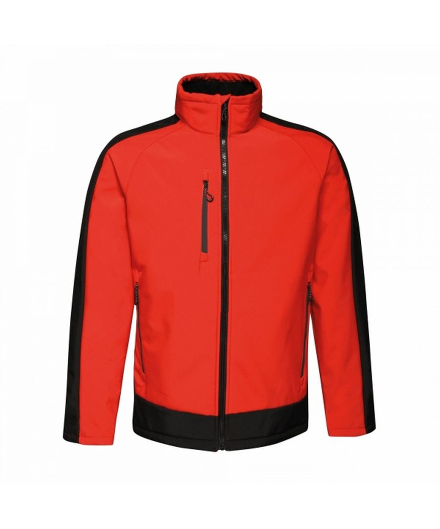 Image for Regatta Mens Contrast 3 Layer Softshell Full Zip Jacket