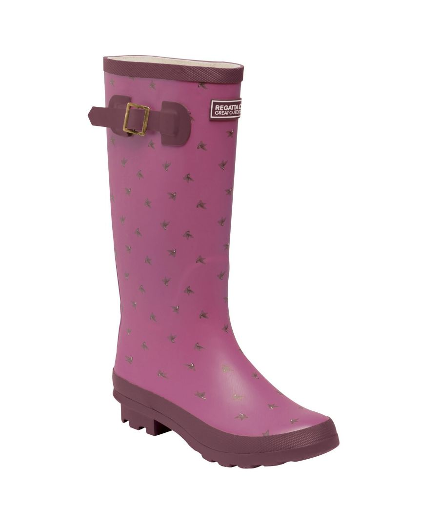Image for Regatta Womens/Ladies Ly Fairweather II Tall Durable Wellington Boots (Violet/Fig Rose Blush)