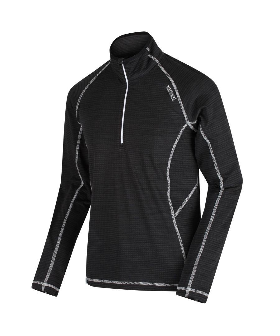 Image for Regatta Mens Yonder Quick Dry Moisture Wicking Half Zip Fleece Jacket