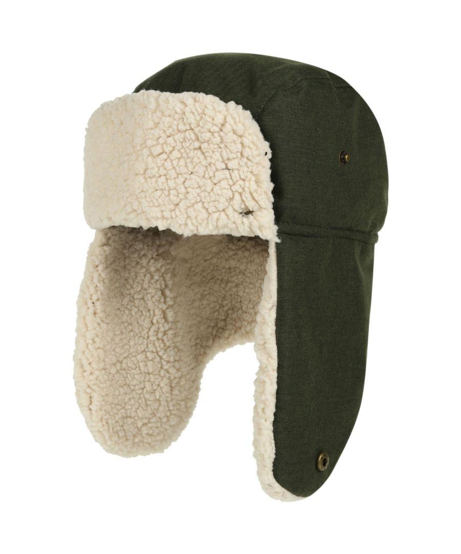 Image for Regatta Mens Halian Fleece Lined Waterproof Winter Walking Trapper Hat