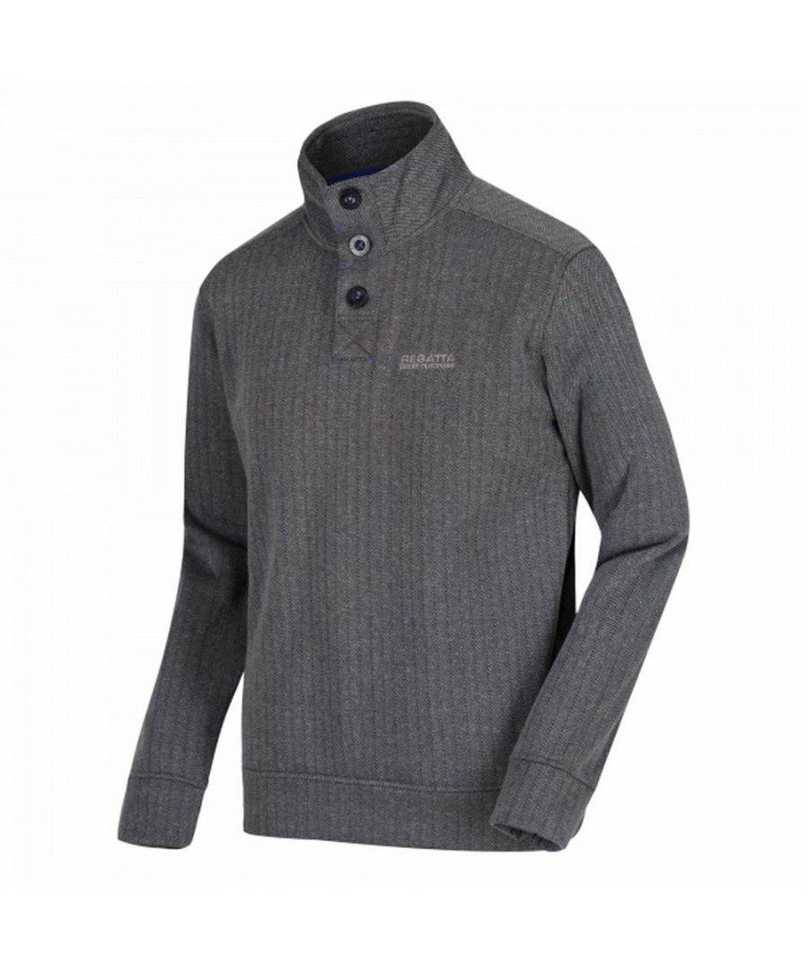 Image for Regatta Mens Lucan Herringbone Effect Fleece