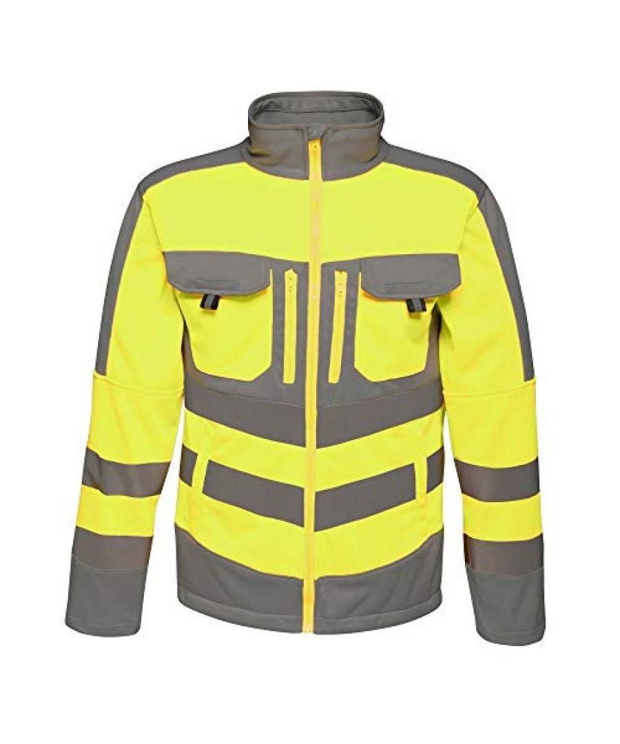 Image for Regatta Mens Hi Vis Tactical Reflective Stretch Fleece