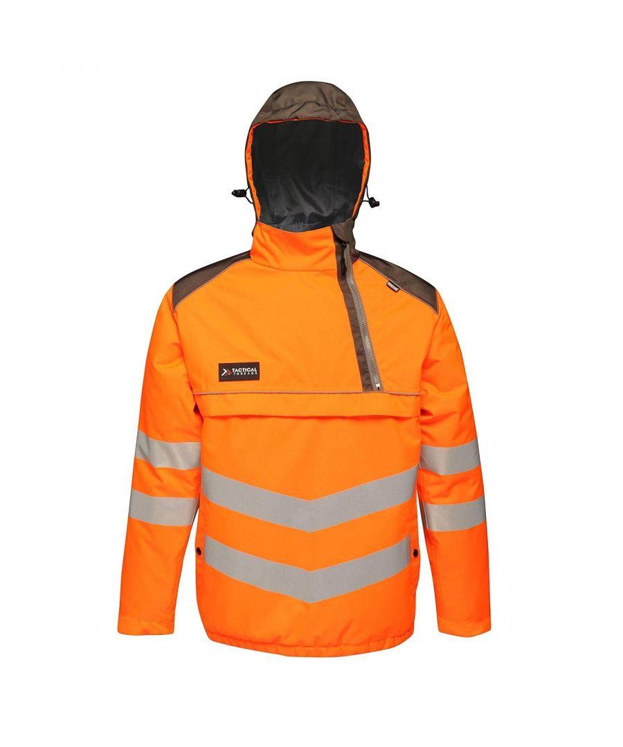 Image for Regatta Mens Tactical Hi Vis Waterproof Reflective Overhead Bomber Jacket