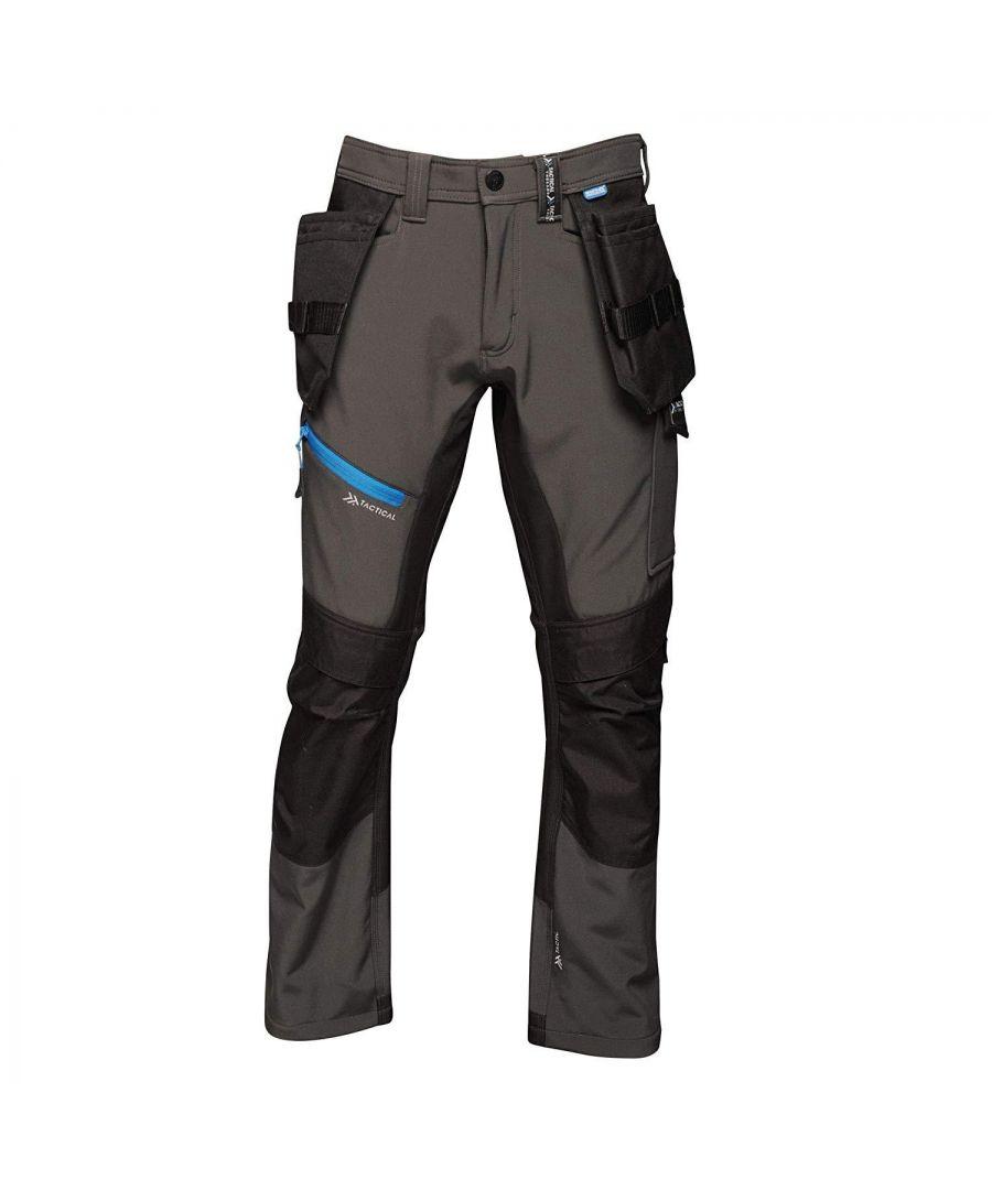 Image for Regatta Mens Strategic Softshell Work Trousers