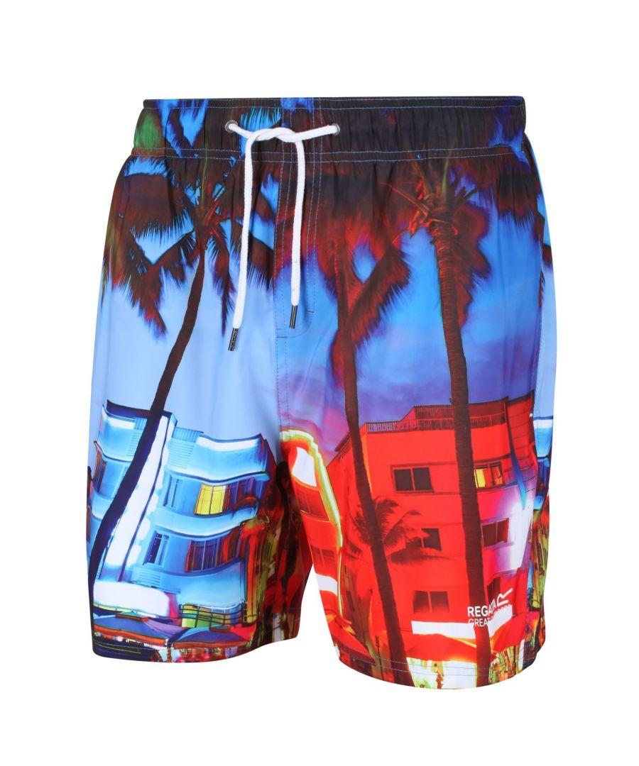 Image for Regatta Mens Mawson II Swim Shorts (Multicoloured Print)