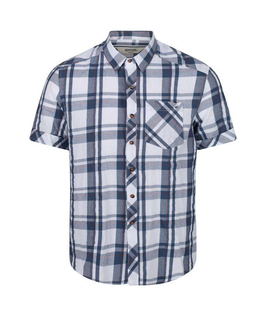 Image for Regatta Mens Deakin III Short Sleeve Checked Shirt