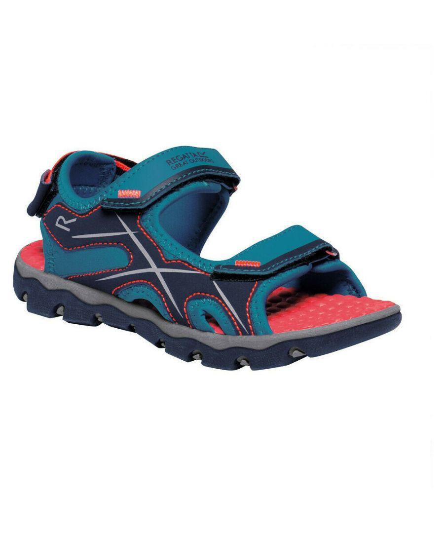 Image for Regatta Childrens/Kids Kota Drift Sandals (Enamel/Fiery Coral)