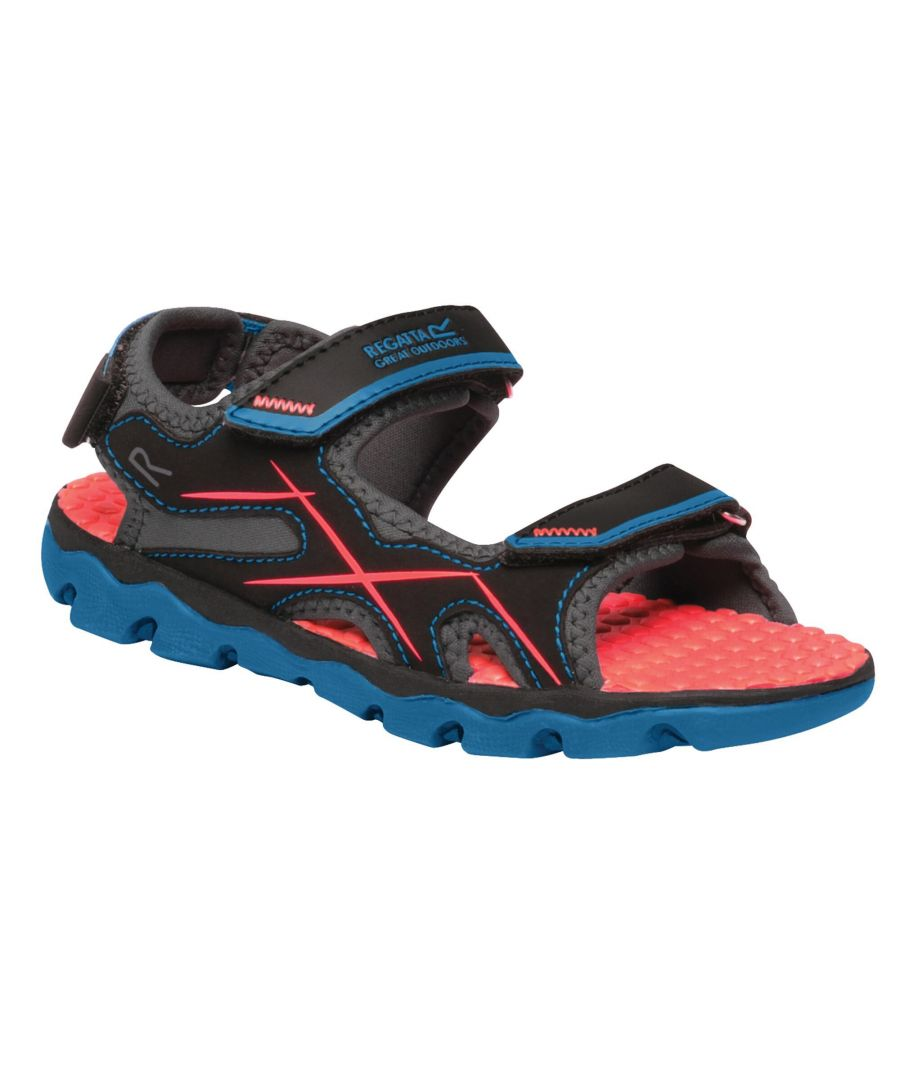 Image for Regatta Childrens/Kids Kota Drift Sandals (Petrol Blue/Fiery Coral)