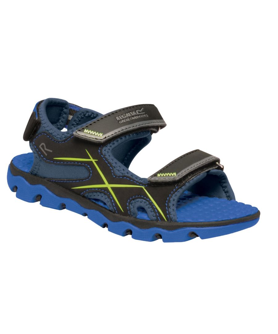 Image for Regatta Childrens/Kids Kota Drift Sandals (Nautical Blue/Electric Lime)