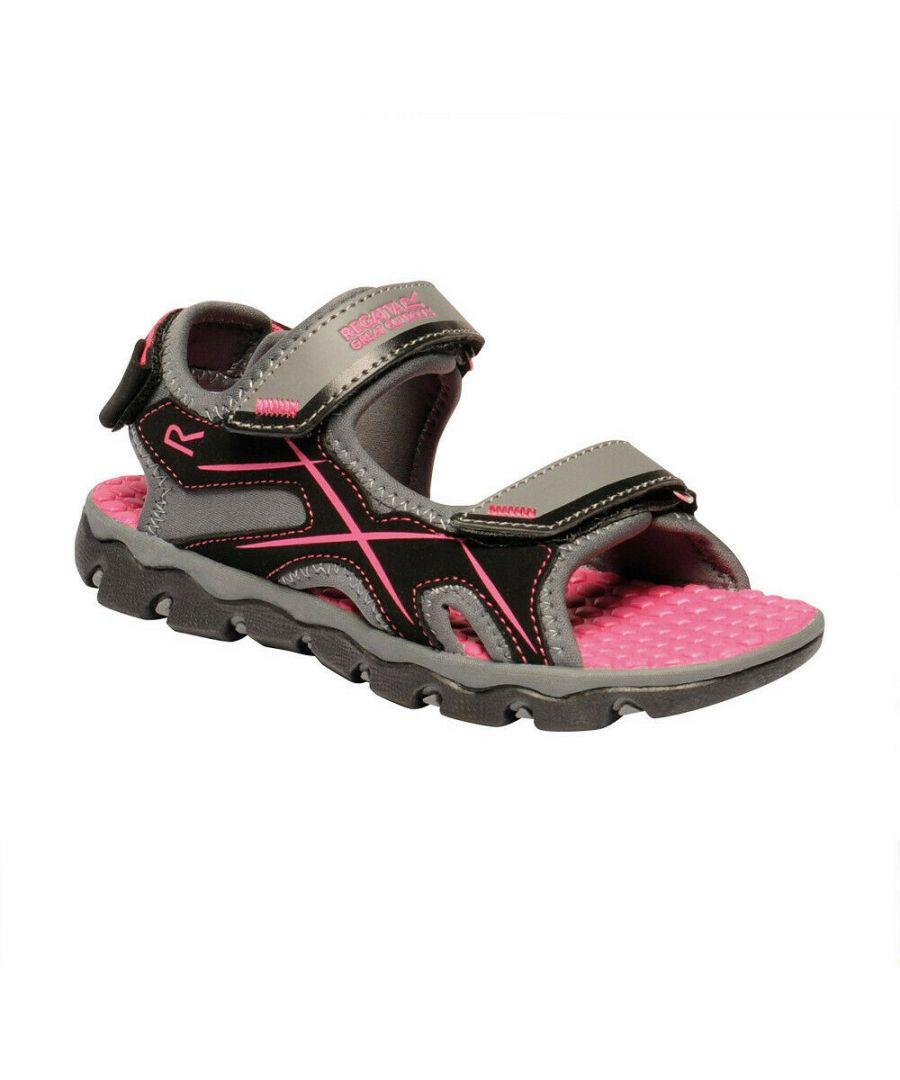Image for Regatta Childrens/Kids Kota Drift Sandals (Granite/Cabaret)