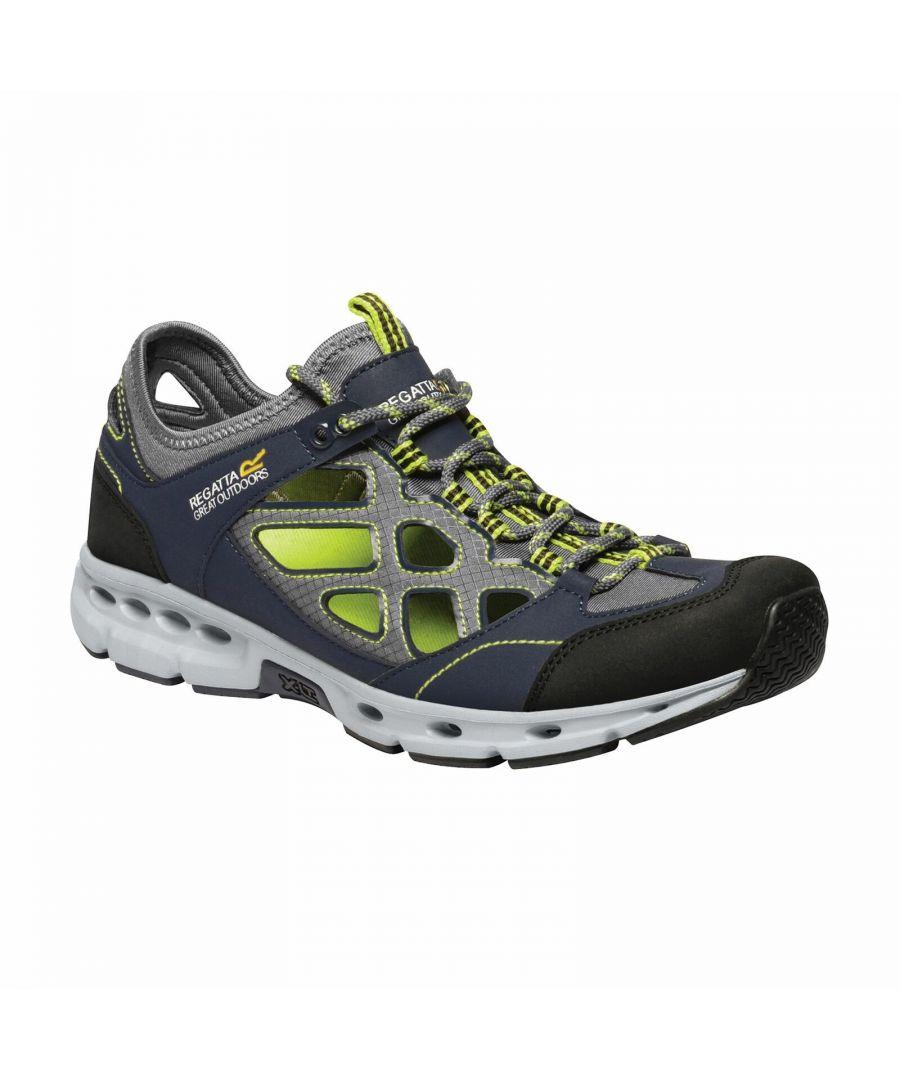Image for Regatta Mens Samaris Crosstrek Sandals (Navy/Lime Punch)