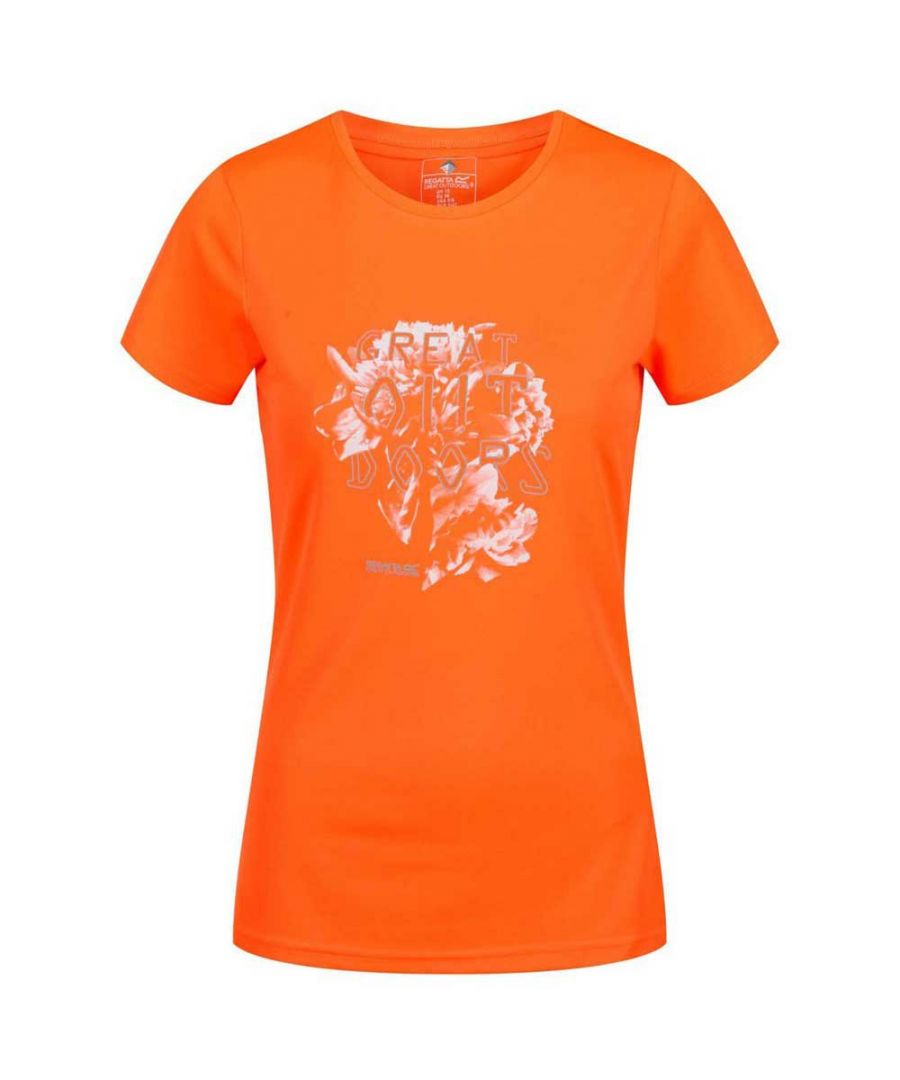 Image for Regatta Womens/Ladies Fingal IV UV Protection Graphic Print T-Shirt