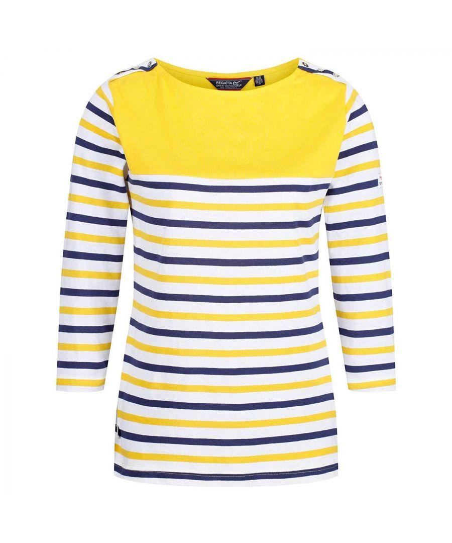 Image for Regatta Womens/Ladies Pandara Long Sleeve Stripe T-Shirt