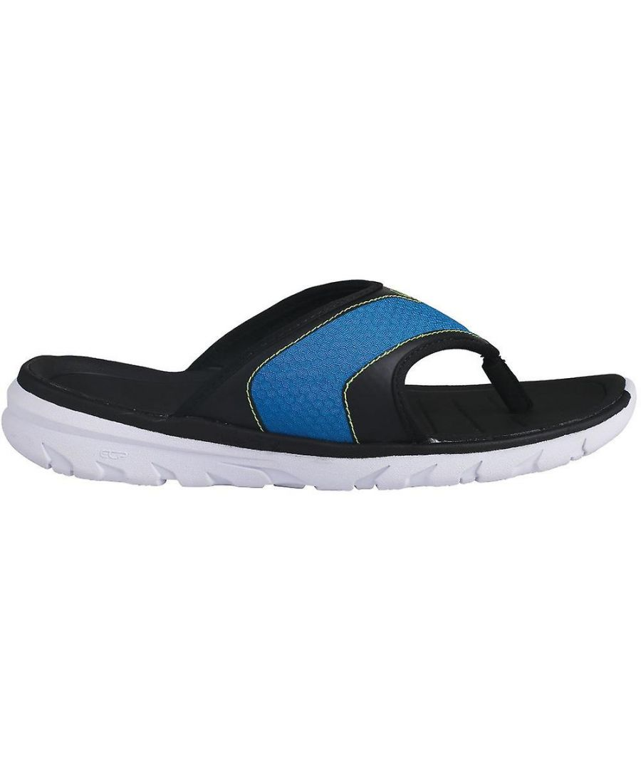 Image for Dare 2B Mens Xiro Flip Flops (Petrol Blue/Jasmine Green)