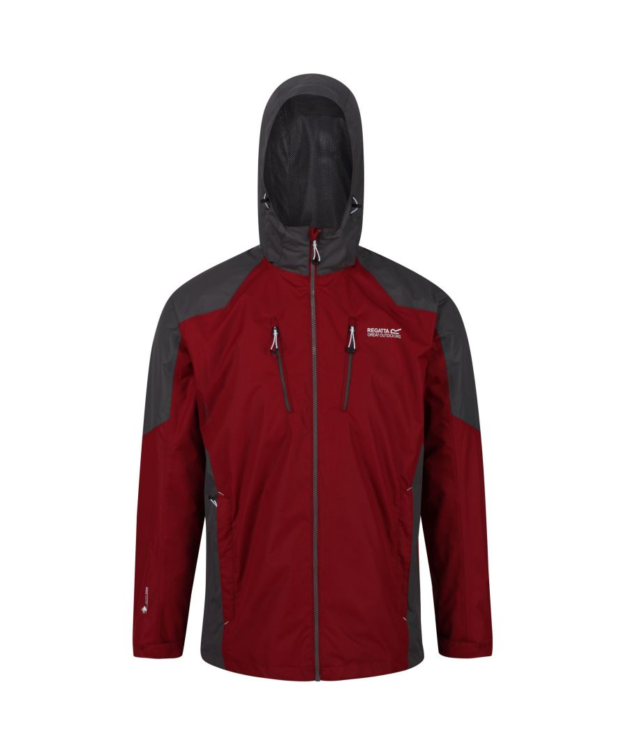 Image for Regatta Mens Calderdale III Waterproof Jacket With Concealed Hood