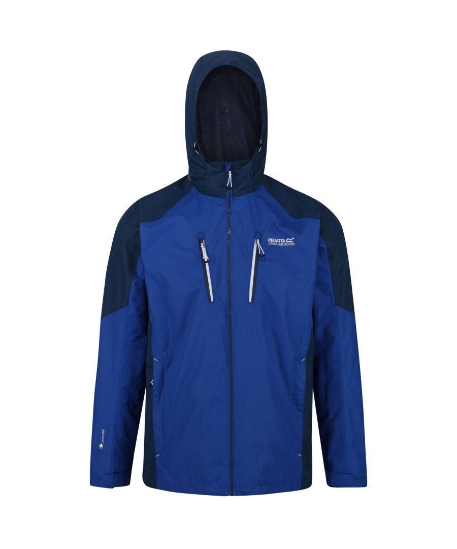 Image for Regatta Mens Calderdale III Waterproof Jacket With Concealed Hood