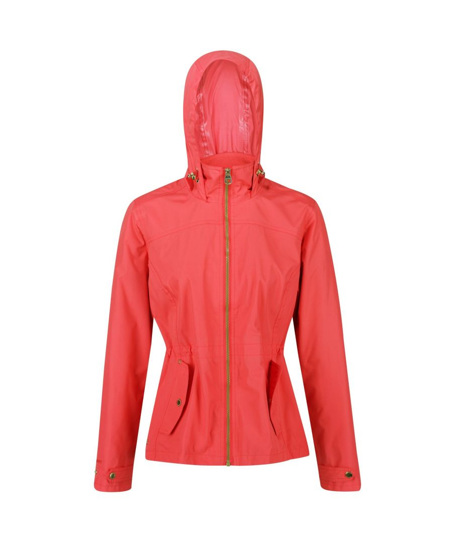Image for Regatta Womens/Ladies Laurenza Waterproof Hooded Jacket (Red Sky)