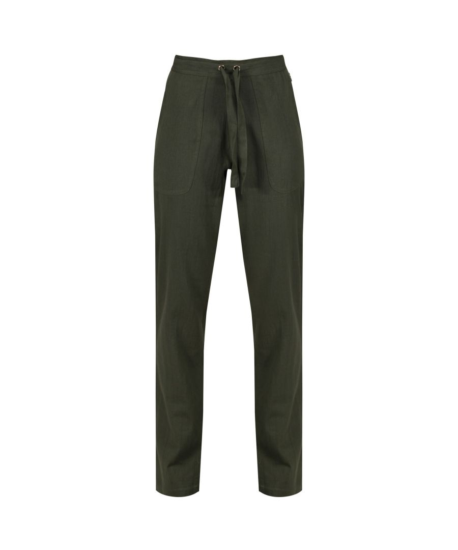 Image for Regatta Womens/Ladies Quanda Coolweave Cotton Trousers