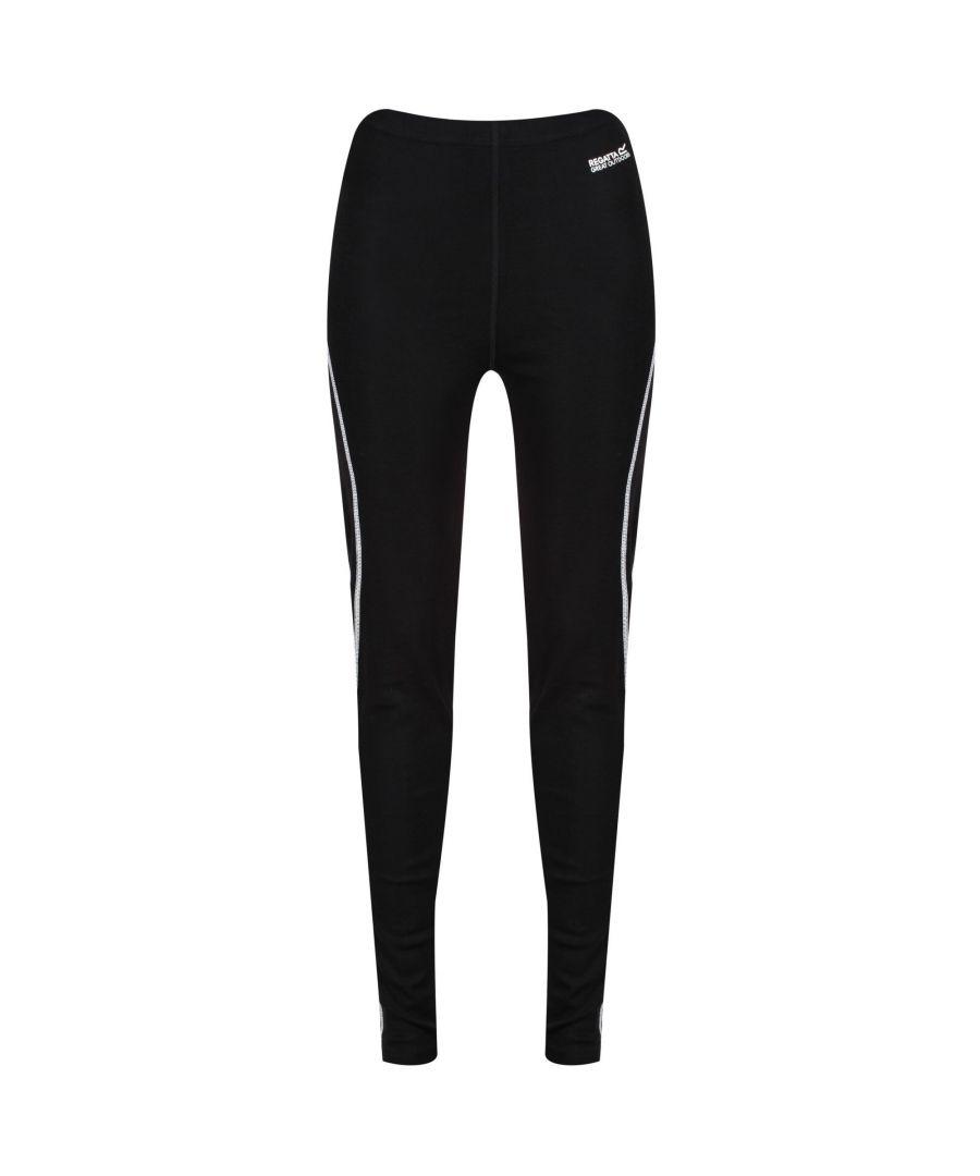 Image for Regatta Womens/Ladies Zimba Base Layer Leggings (Black)