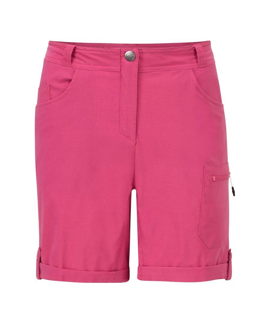 Image for Dare2b Womens/Ladies Melodic II Multi Pocket Walking Shorts (Active Pink)