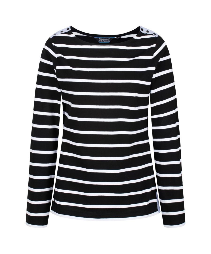 Image for Regatta Womens/Ladies Flordelis Striped Long Sleeve T-Shirt