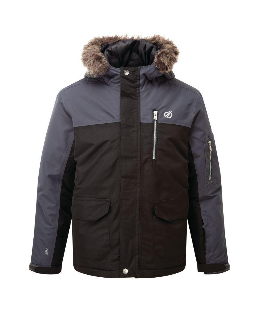Image for Dare 2B Boys Furtive Ski Jacket (Black/Ebony)