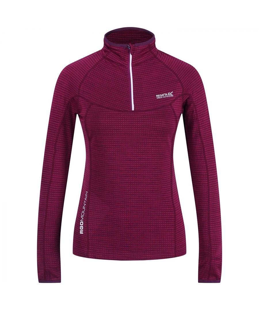 Image for Regatta Womens/Ladies Yonder Fleece Top (Purple Potion)
