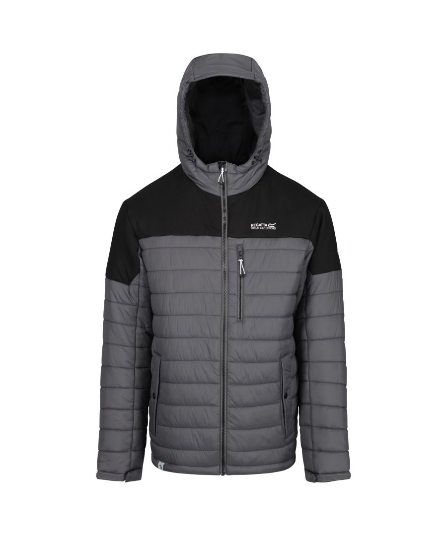 Image for Regatta Mens Orton Hooded Baffle Jacket