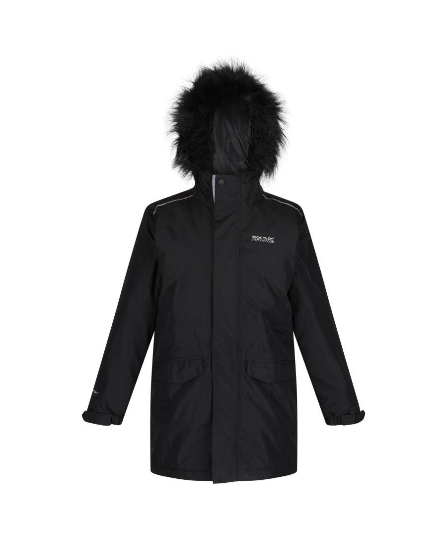 Image for Regatta Childrens/Kids Perry Fur Trimmed Waterproof Jacket
