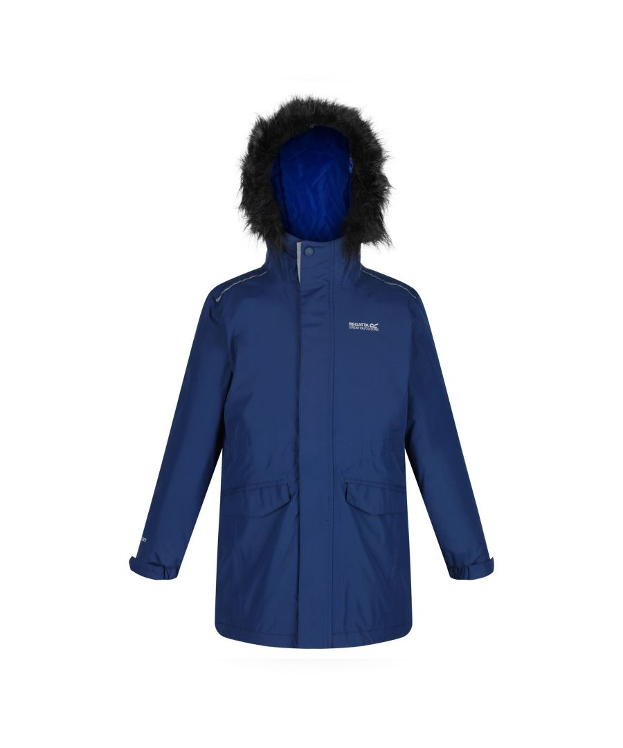 Image for Regatta Childrens/Kids Perry Fur Trimmed Waterproof Jacket