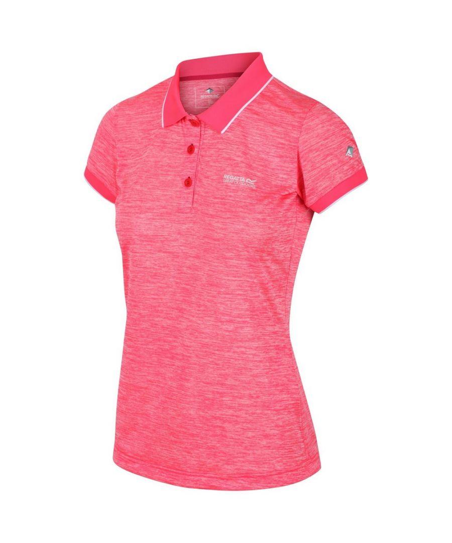 Image for Regatta Womens/Ladies Remex II Polo Neck T-Shirt (Neon Pink)