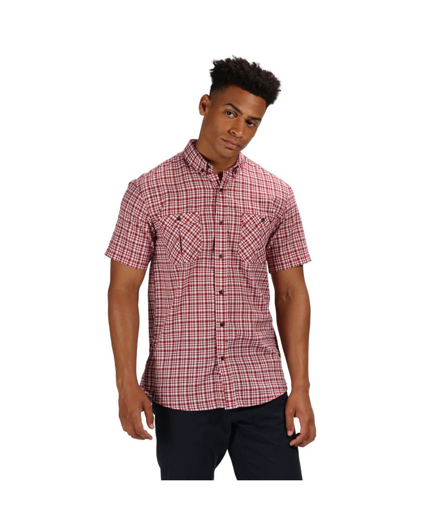 Image for Regatta Mens Ramone Short Sleeve Checked Shirt