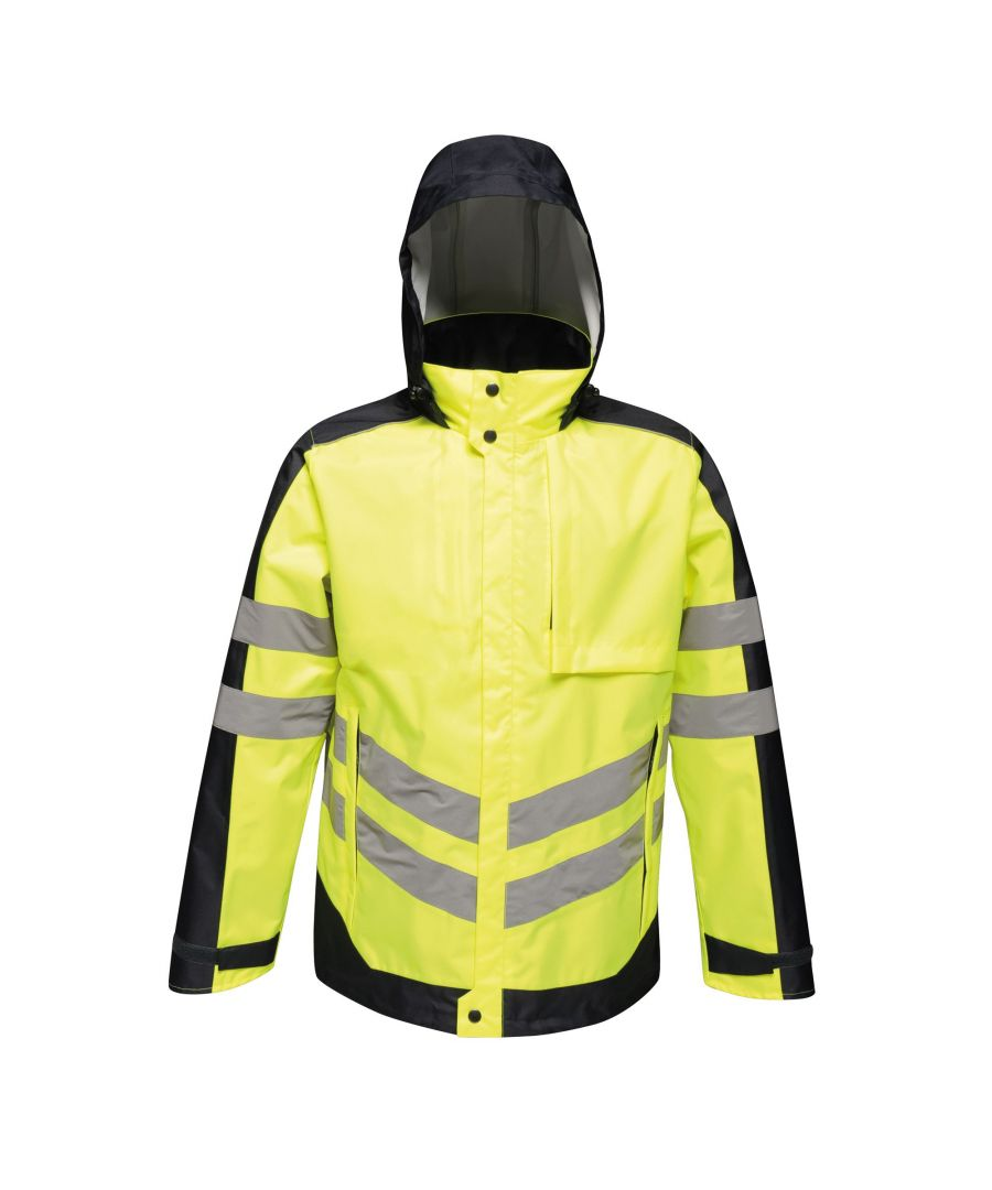 Image for Regatta Mens Hi-Vis Waterproof Insulated Reflective Jacket