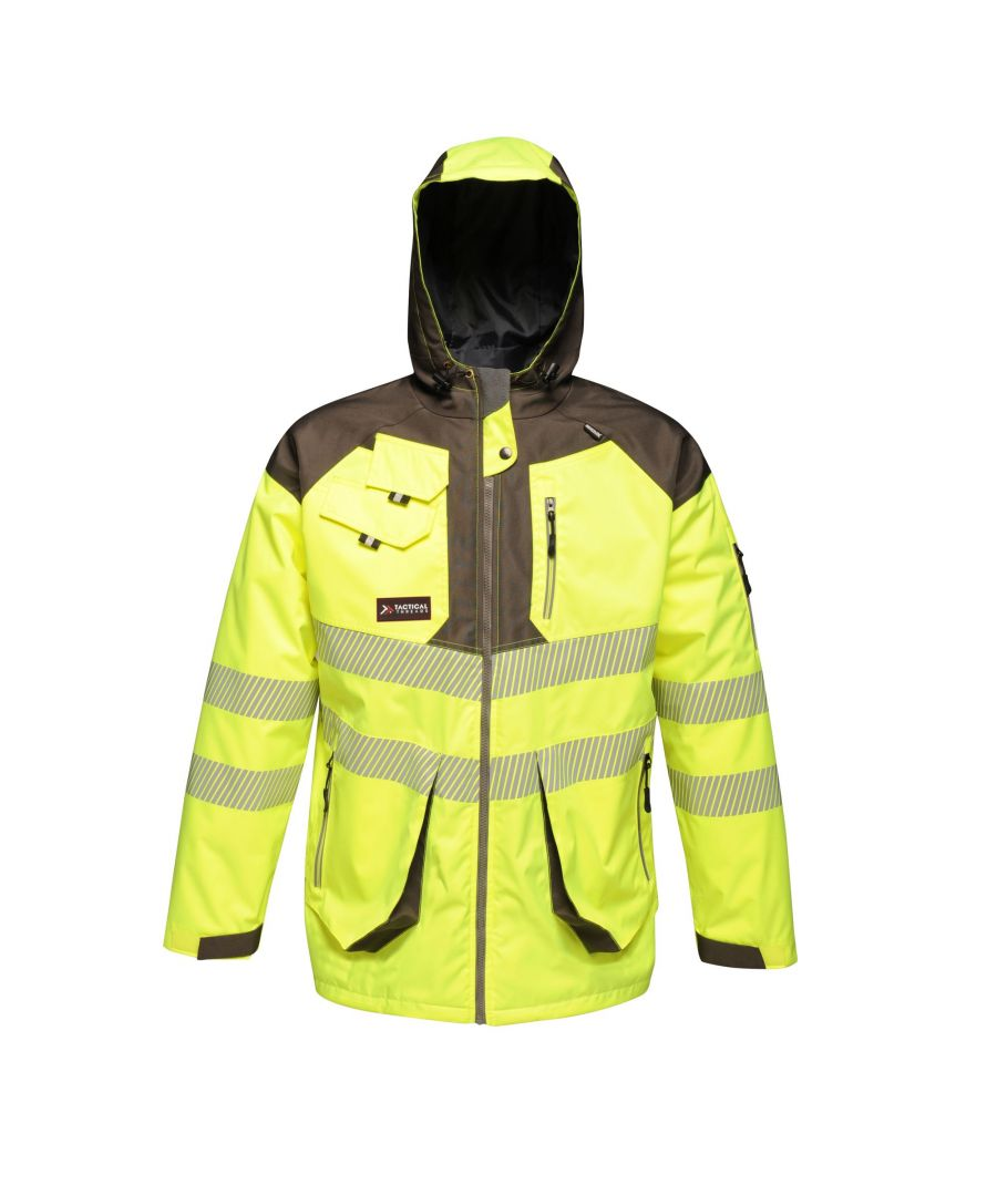 Image for Regatta Mens Hi-Vis Waterproof Reflective Parka Jacket