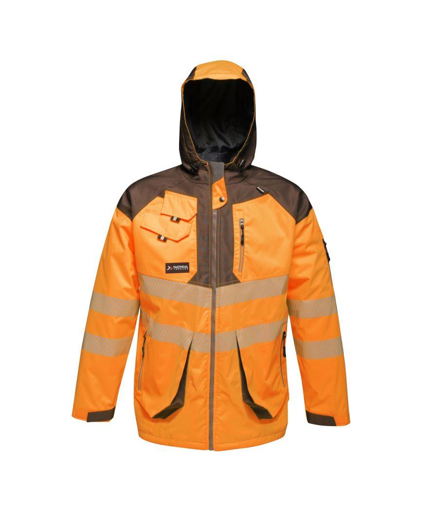 Image for Regatta Mens Hi-Vis Waterproof Reflective Parka Jacket