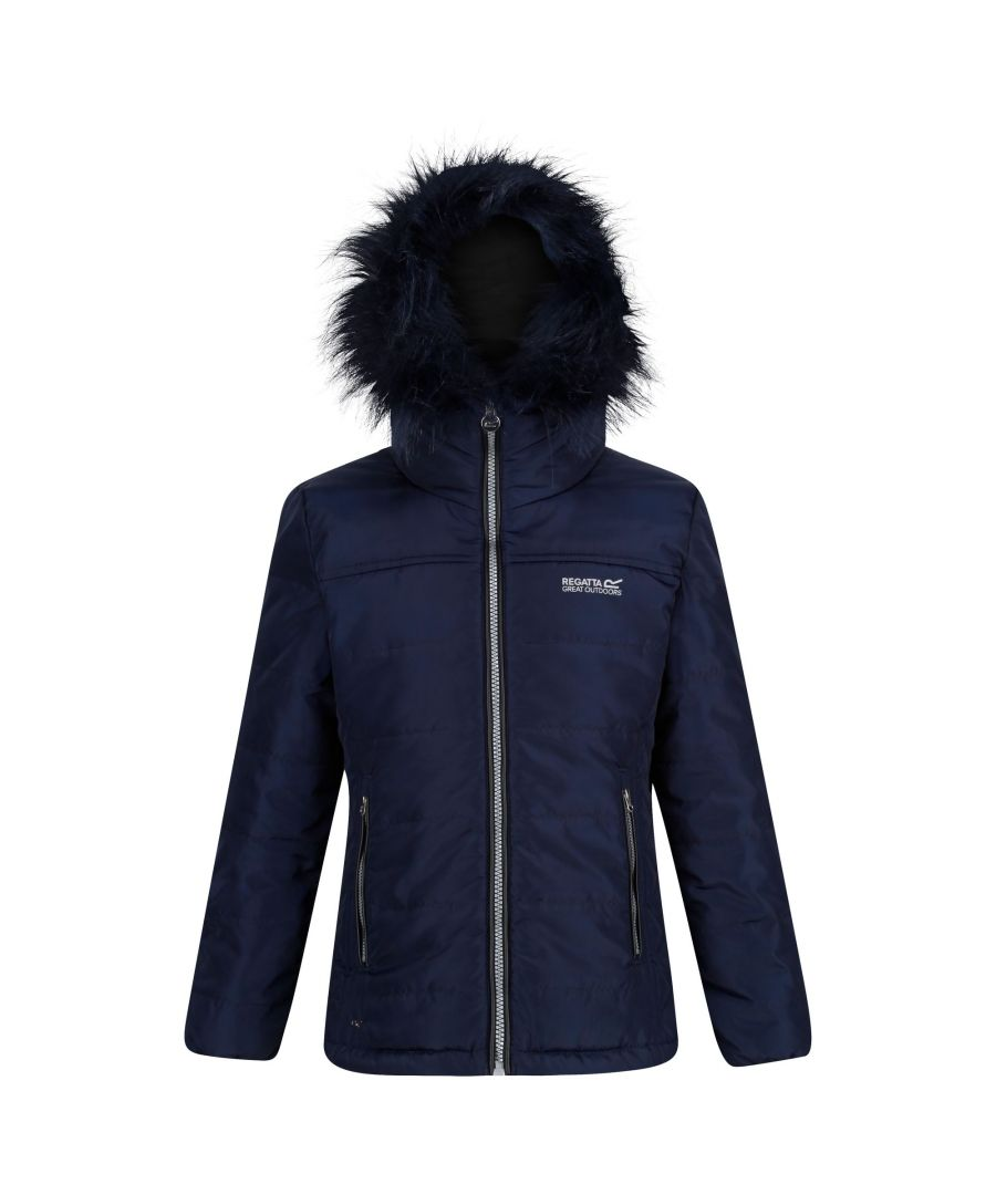 Image for Regatta Childrens/Kids Westhill Faux Fur Trim Hooded Jacket