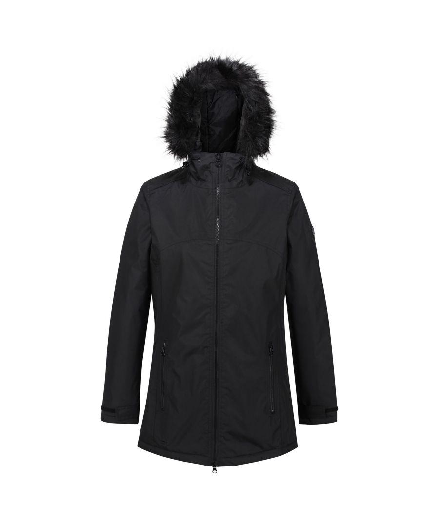 Image for Regatta Womens/Ladies Myla Waterproof Insulated Jacket (Black)