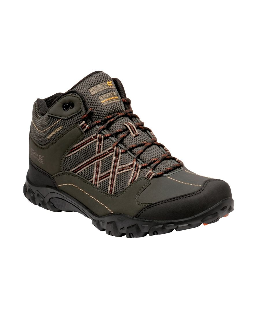 Image for Regatta Mens Edgepoint Mid Waterproof Hiking Shoes