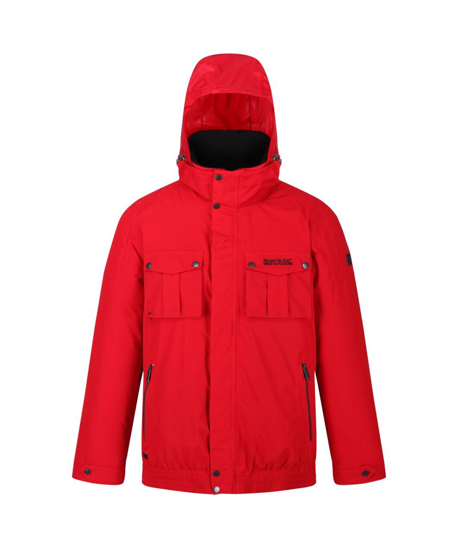 Image for Regatta Mens Ralston Waterproof Insulated Fleece Collared Jacket