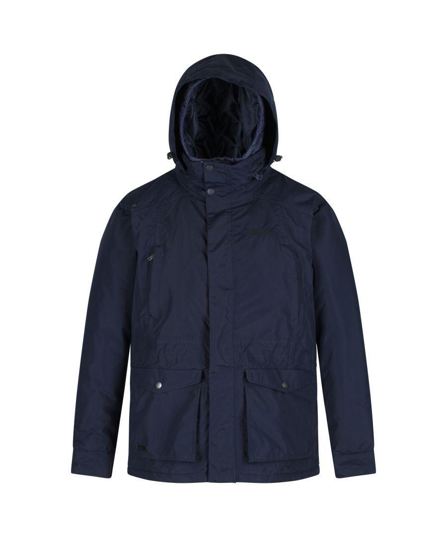 Image for Regatta Mens Rainer Waterproof Concealed Hood Insulated Jacket