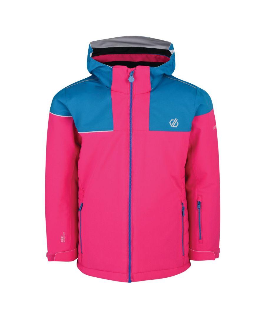 Image for Dare 2B Childrens/Kids Entail Ski Jacket (Cyber Pink/Atlantic Blue)
