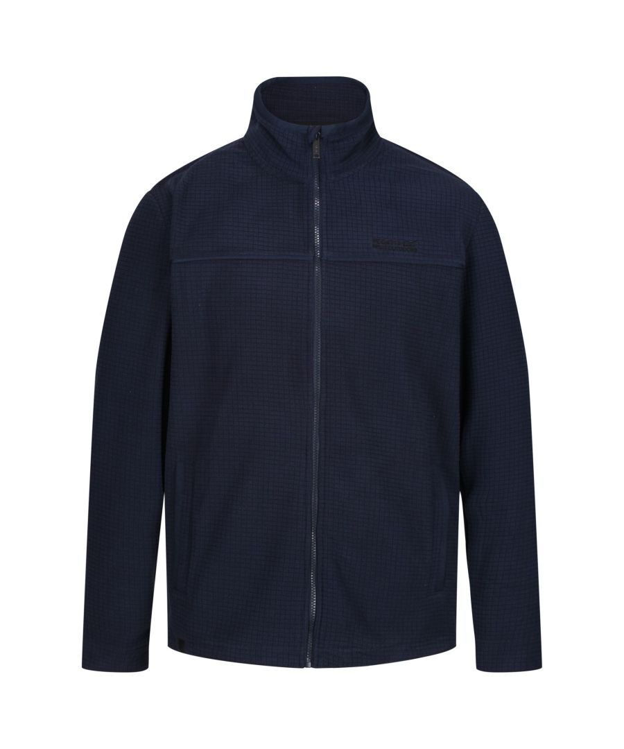 Image for Regatta Mens Earvin Full Zip Broken Stripe Fleece
