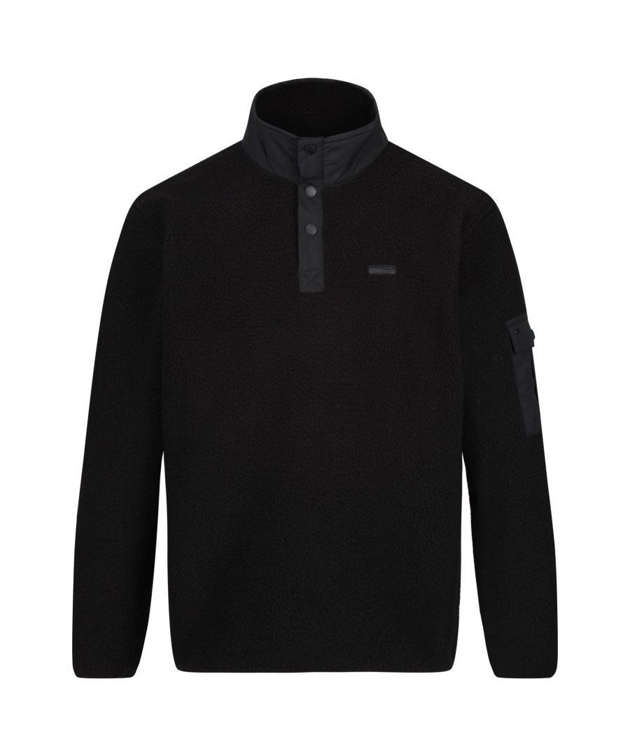 Image for Regatta Mens Cormac Heavyweight Button Neck Fleece Sweater