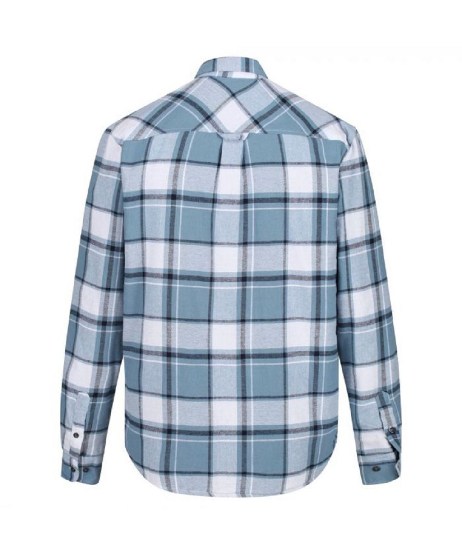 Image for Regatta Mens Tygo Long Sleeved Checked Lined Shirt