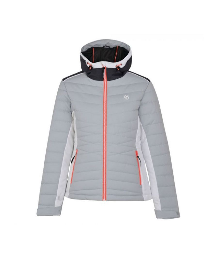 Image for Dare 2B Womens/Ladies Simpatico Quilted Ski Jacket (Argent Grey)