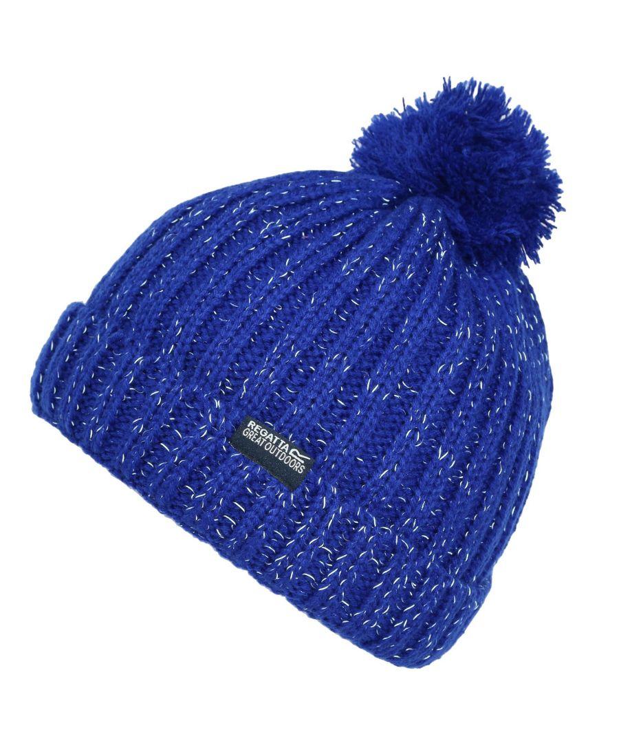 Image for Regatta Childs/Kids Unisex Luminosity III Reflective Bobble Hat (Royal Blue)