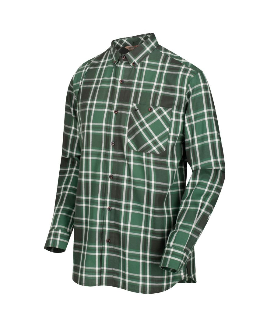 Image for Regatta Great Outdoors Mens Lazare Long Sleeve Checked Shirt