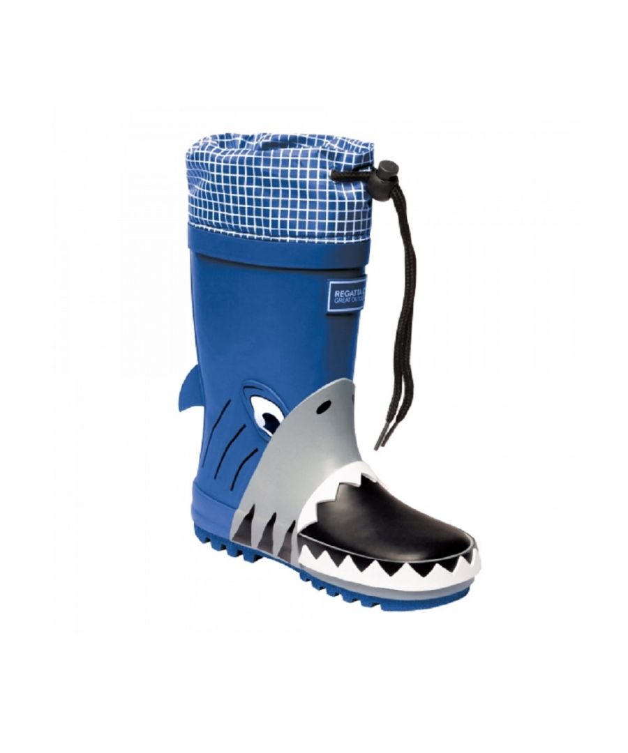 Image for Dare 2B Childrens/Kids Mudplay Dinosaur Wellingtons (Shark/Nautic)