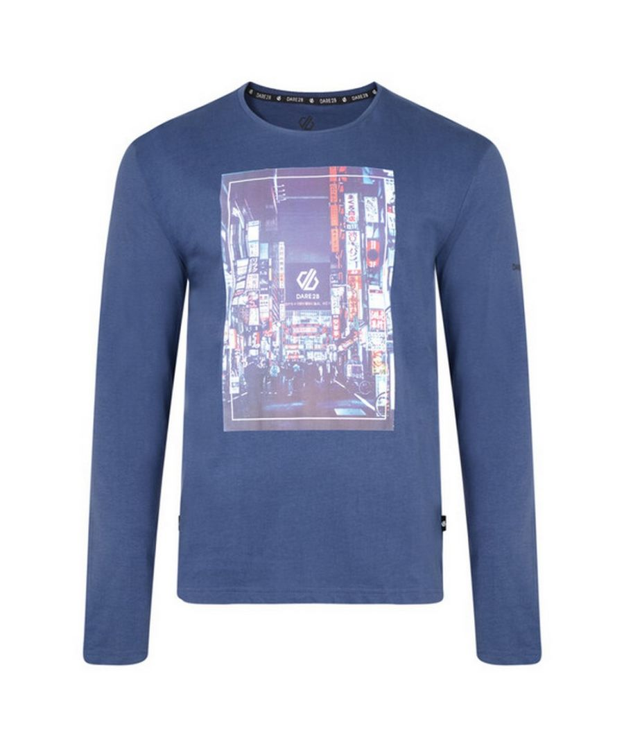 Image for Dare 2b Mens Industry Long Sleeved Graphic Print T-Shirt